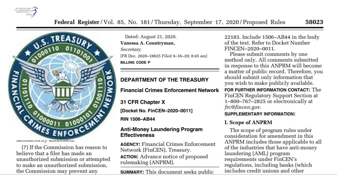 FinCEN's New Notice Proposes AML Enhancements for Financial Institutions
